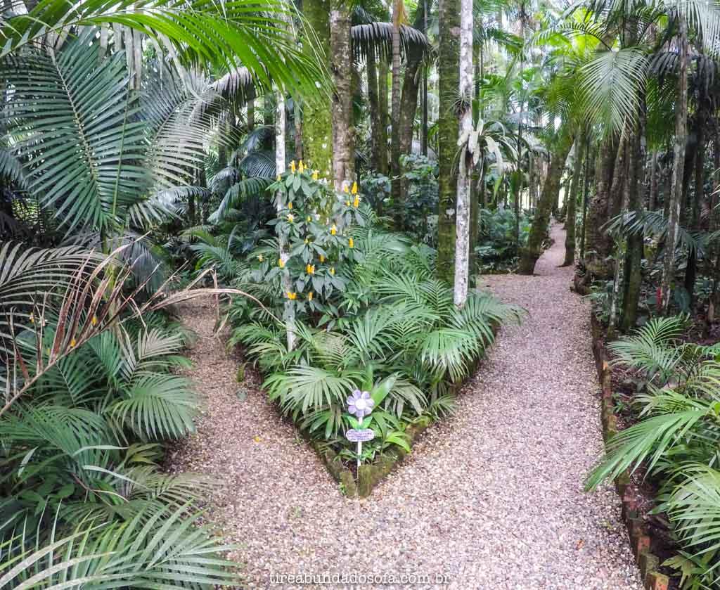 Jardim enorme, para relaxar em meio a natureza, na pousada Edelweiss, em pomerode, santa catarina
