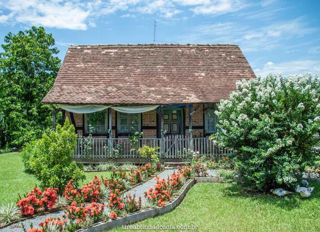 Casas encantadoras da Rota do Enxaimel, em Pomerode, Santa Catarina