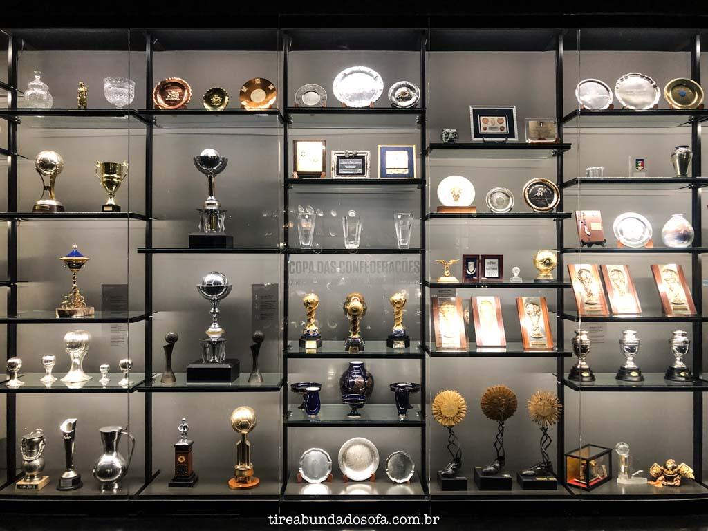 Conquistas da seleção brasileira, no Museu do Futebol