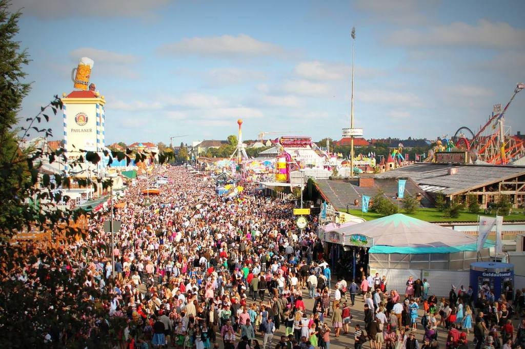 Oktoberfest, famoso festival de cerveja em Munique, na Alemanha