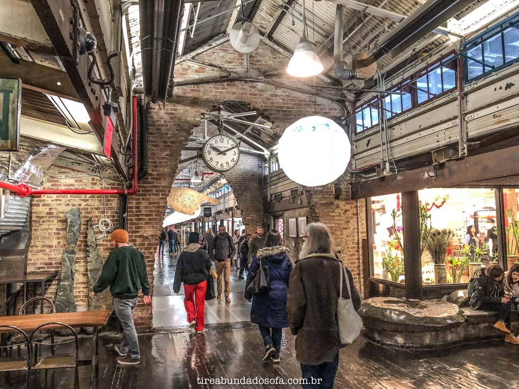 Interior do Chelsea Market, em nova york