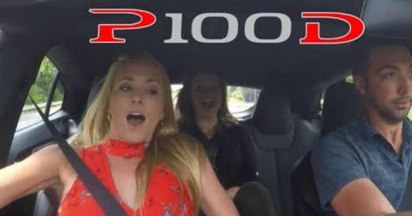 Girls React P100D Tesla Launch 1