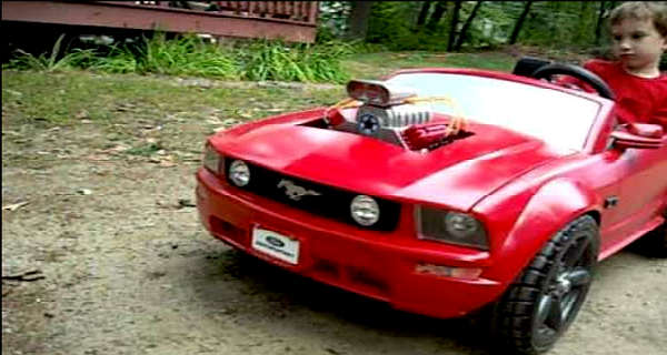Power Wheels Mustang With A Blower 1
