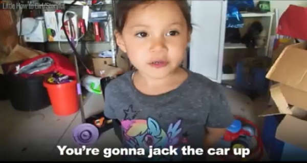 This Little Girl Will Teach You How To Change Oil On Your Car 2