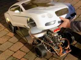 This RC Bentley Car With V8 Blown Engine Sounds Amazing 11