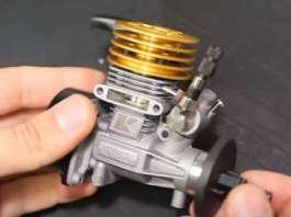 Twin Nitro Engine small diy scratch assemble 2