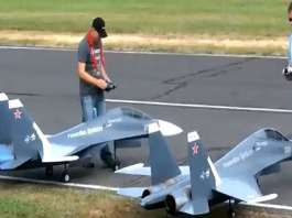 Two Huge RC Fighter Jets In Action 1