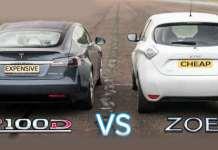 P100D Model S Tesla vs Renault Zoe 11