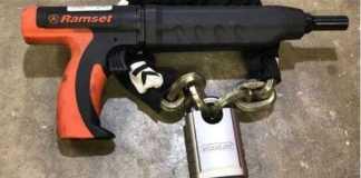 Ramset Gun vs Worlds Toughest Motorcycle Lock 1