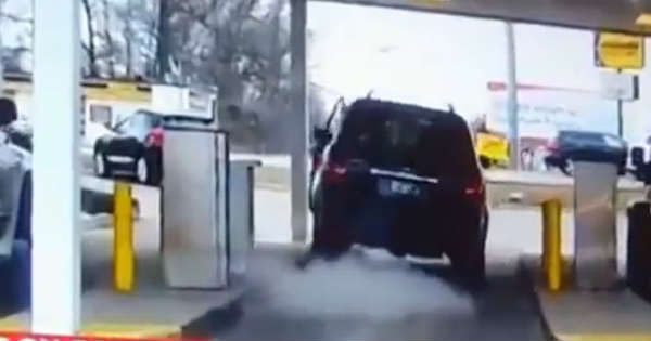 This Guy Had A Stuck Throttle Sends His SUV Over Another Car 11