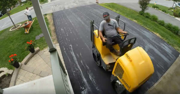 Video Of New Tarmac Being Flattened To Perfection 11
