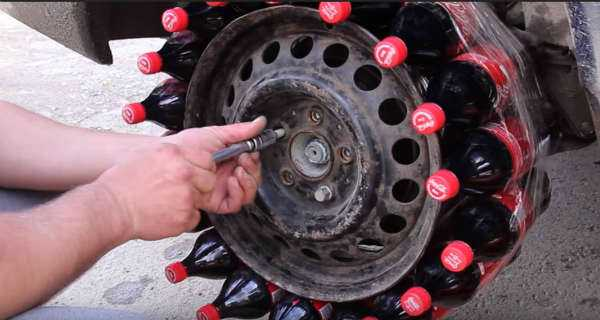 What Happens When You Use Coca Cola Bottles Instead Of A Tire 2