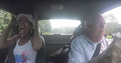 65 Year Old Guy Takes His Wife On a Crazy Ride in a 700HP Mustang 2