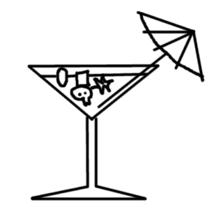 cocktail of food supplements - comic
