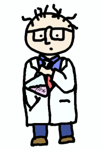 laboratory researcher - comic