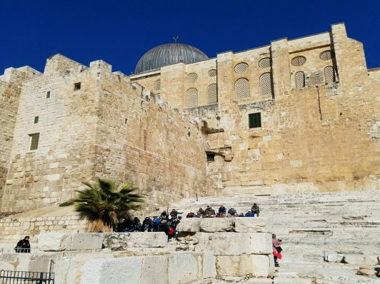 Steve teaches Acts 3 on the steps at the southern wall. It is very likely that Jesus taught here as well.