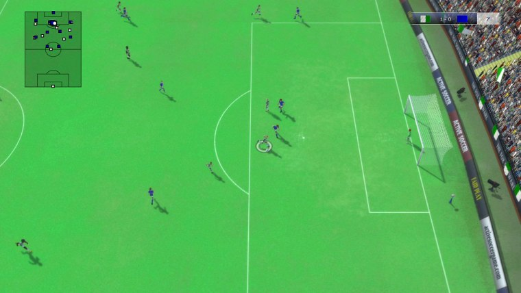 You don't have to play vertically, Sensible Soccer style. You can also change the camera to a side-on or isometric viewpoint