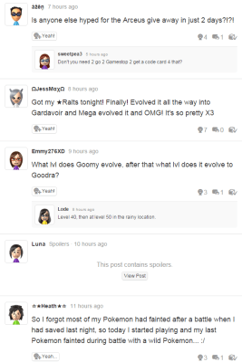 Imagine something like Miiverse, only people wouldn't just talk about Pokemon all the time