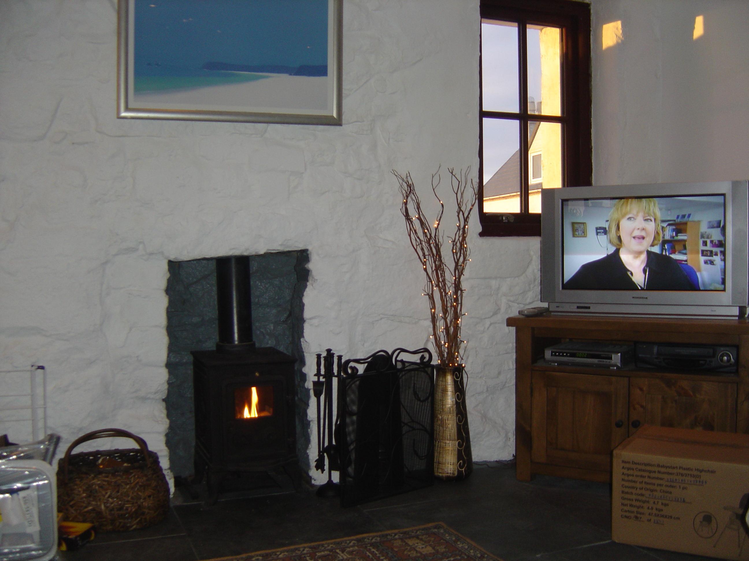 Living Room Stove gets lit!