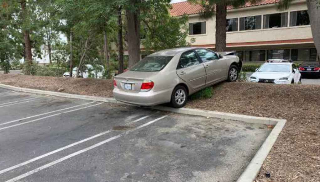 Toyota Camry funny old people crash tree