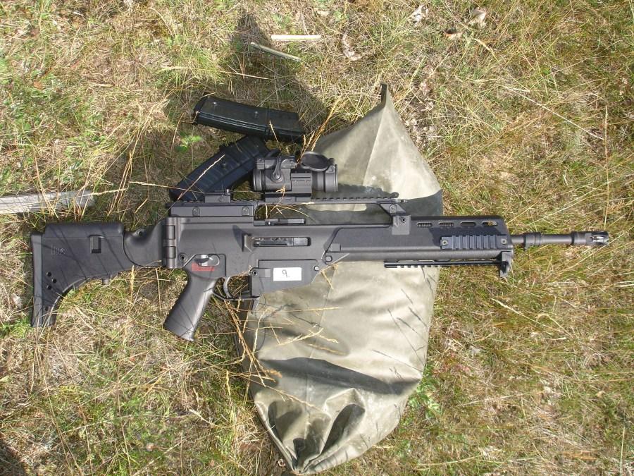 Estación de tiro de fusiles de asalto. HK G36 KV dotado de visor Aimpoint CompM2