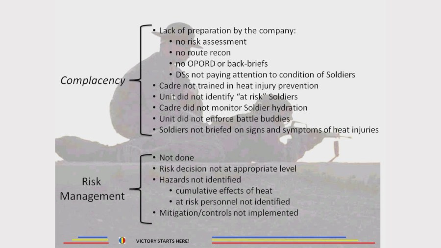 Complacency - Risk Management - Heat Can Kill 2[21-15-50]