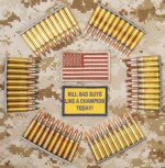 Munición de dotación en EE.UU. en calibre 5'56 mm.