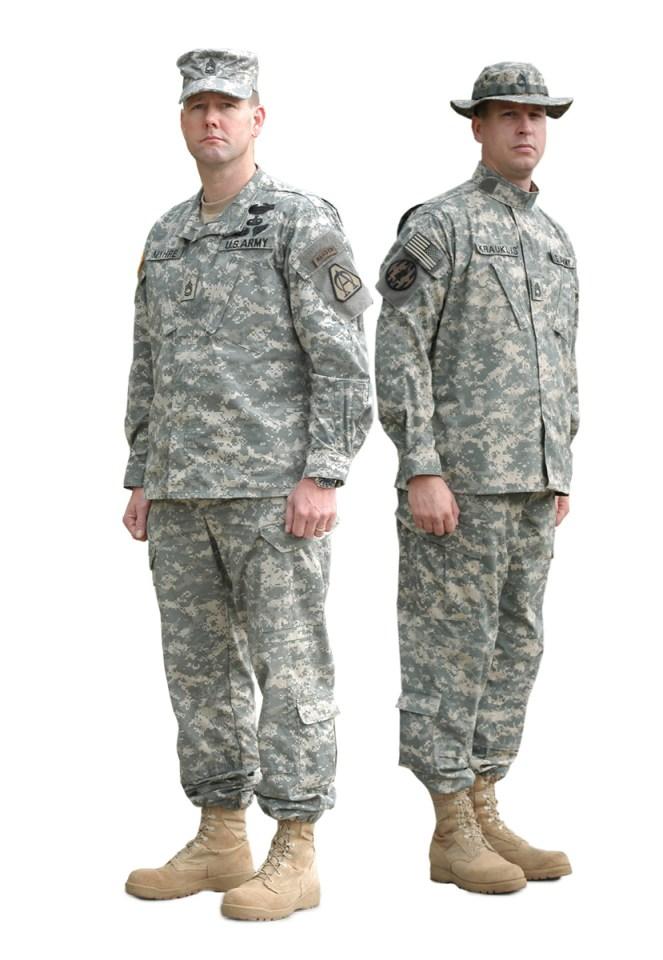 Army Combat Uniform (ACU).