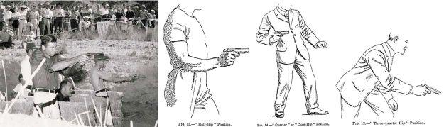 Evolución de las posiciones de tiro (Jack Weaver, Fairbairn & Sykes)