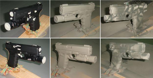 Procedimiento de aplicación de la pintura a una pistola.