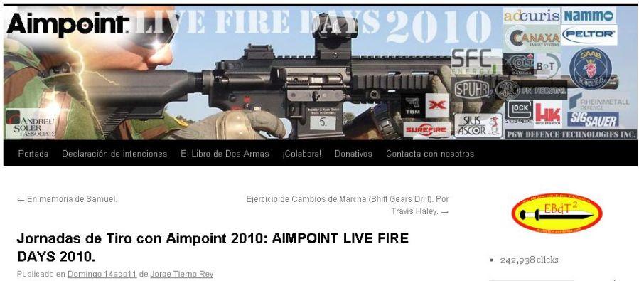 Jornadas de Tiro con Aimpoint 2010: AIMPOINT LIVE FIRE DAYS 2010.