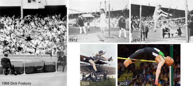 Evolución de la TTP del salto de altura.