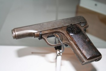 Pistola M1910 de Gavrilo Princip. Foto del Museo de Historia Militar de Viena