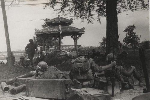 Infantes de marina en Hue. Foto del Cuerpo de Infantería de Marina de EE.UU.
