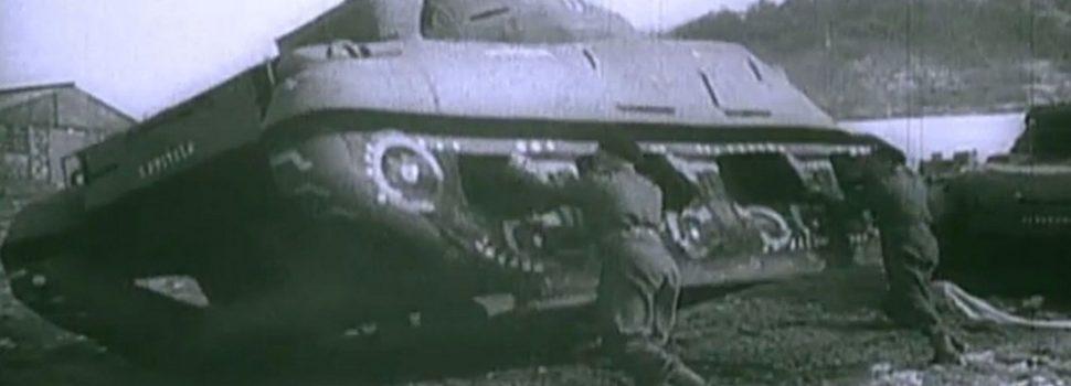 maqueta de carro de combate que formó parte del engaño de los aliados antes del desembarco del día D.