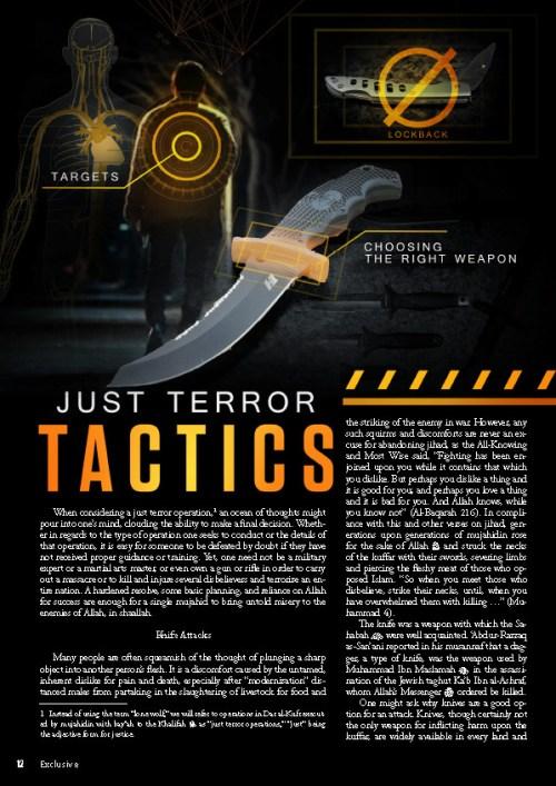 Artículo de la revista del ISIS Rumiyah en el que se abogaba por los ataques con vehículo.