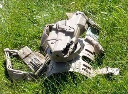 Disparo en un pie con funda SERPA 2