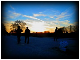Walking in Lucca: sunset /2