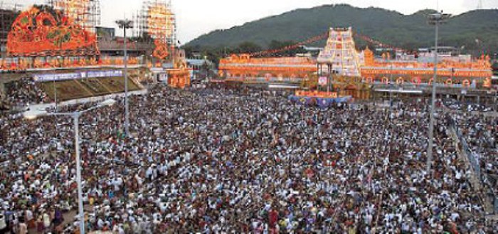tirumala live crowd status waiting time