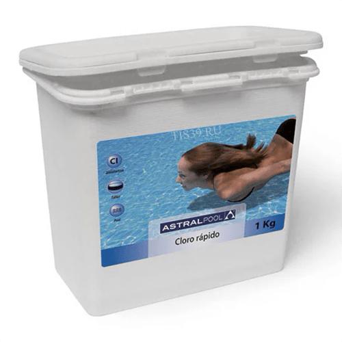AstralPool дихлор,быстрорастворимые таблетки по 20 г,упаковка 1 кг