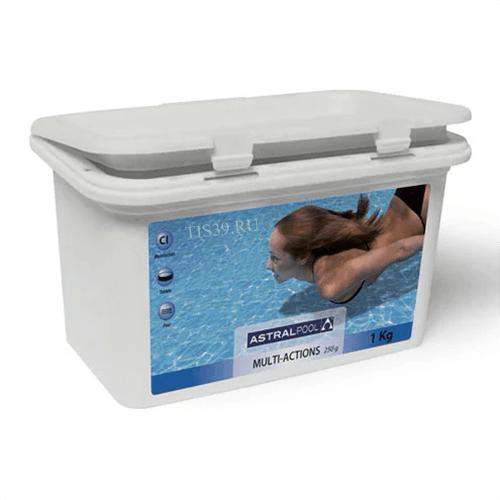 AstralPool мультихлор ,комплексное средство в таблетках по 250 г.,упаковка 1 кг
