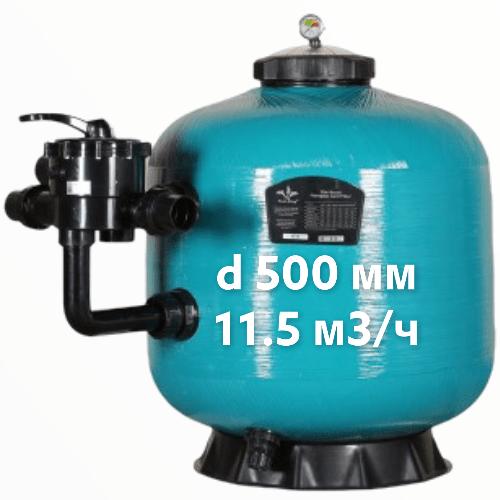 Фильтр для бассейна Pool King KS500,с вентелем ,d 500 мм,11.5 м3/ч