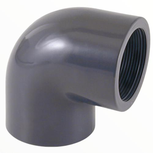Угол клеевой ПВХ 90º градусов с внутренней резьбой
