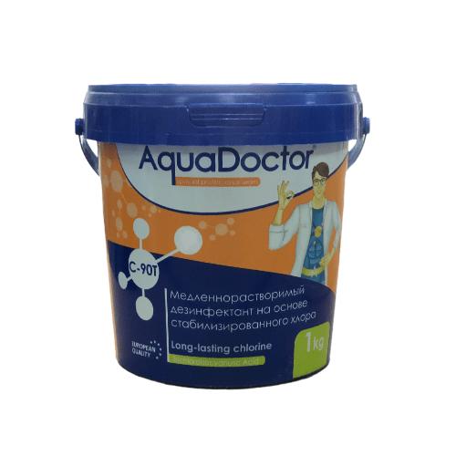 Медленный хлор AquaDoctor C-90T таблетки по 200г ведро 1кг купить Калининнград Аквадоктор