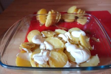 Potato base with Crème fraîche