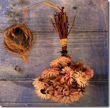fleur séché par bouquet suspendu
