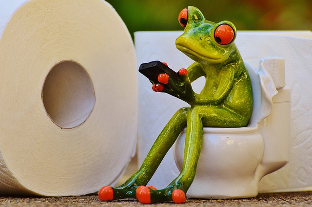 COnstipation cartoon grenouille