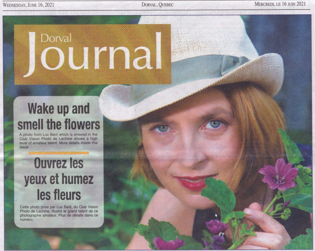 Audray Pepin en 1ere page du journal de Dorval