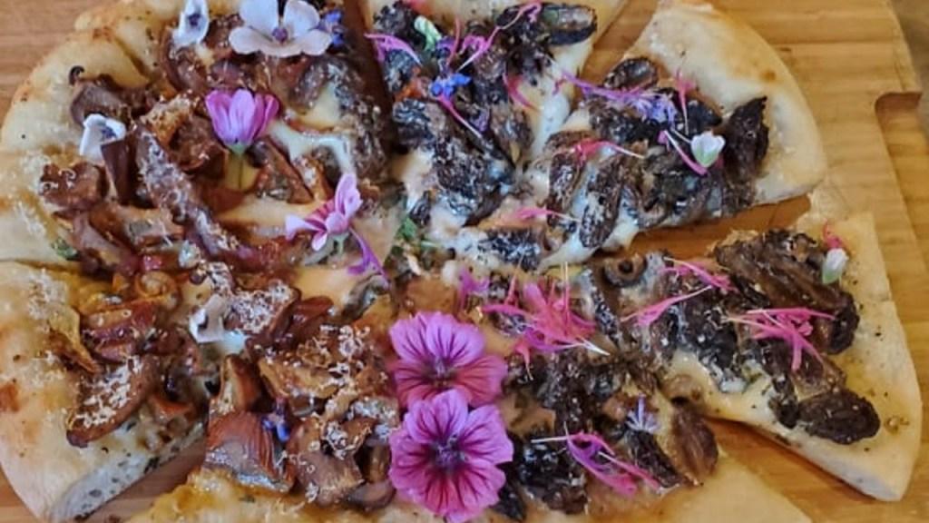 Pizza aux fleurs de princesse