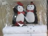 """Geschenkepackung """"Hochzeits-Pinguine"""""""